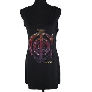 Black Jewelled Beach Coverup by Coogi Size S